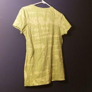 Lime green tie dye t-shirt